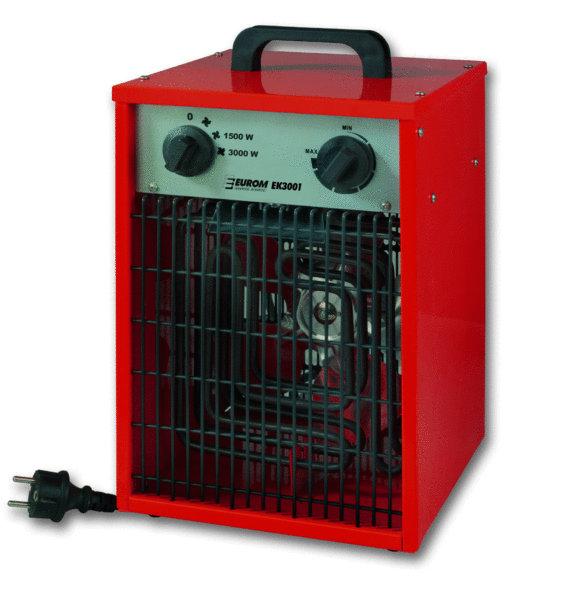 Eurom ek 3001 elektrische kachel 3000 watt borg world for Zuinige elektrische verwarming met thermostaat